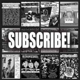 Subscription to <br><em>Maximum Rocknroll</em> magazine