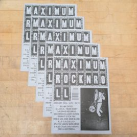 Five wholesale copies of <em>Maximum Rocknroll</em>—sell <em>MRR</em> at gigs!