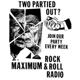 """Two Partied Out?"" MRR Radio T-shirt"